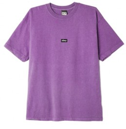 OBEY BLACK BAR HEAVYWEIGHT TEE ORCHID (166912615-ORC)
