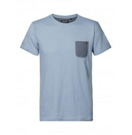 PETROL INDUSTRIES POCKET T-SHIRT CHALK PARROT BLUE (M-1010-TSR634-5145)