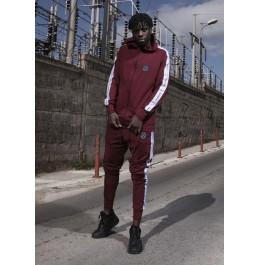 VINYL ART CLOTHING HOODIE WITH FULL ZIP ΜΠΟΡΝΤΩ 78451