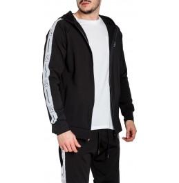 VINYL ART CLOTHING HOODIE WITH FULL ZIP ΜΑΥΡΟ 78451