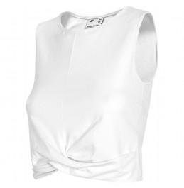 4F WOMEN'S CROPPED TOP WHITE (H4L21-TSD012-10S)