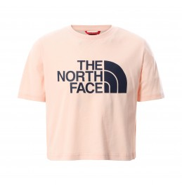 THE NORTH FACE G EASY CROPPED TEE PEARL BLUSH (NF0A558XWC6)