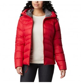COLUMBIA WOMEN'S PARK DOWN HOODED JACKET RED (1909232658)