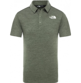 THE NORTH FACE B POLO SHIRT THYME HEATHER (NF0A3CPOQCV)